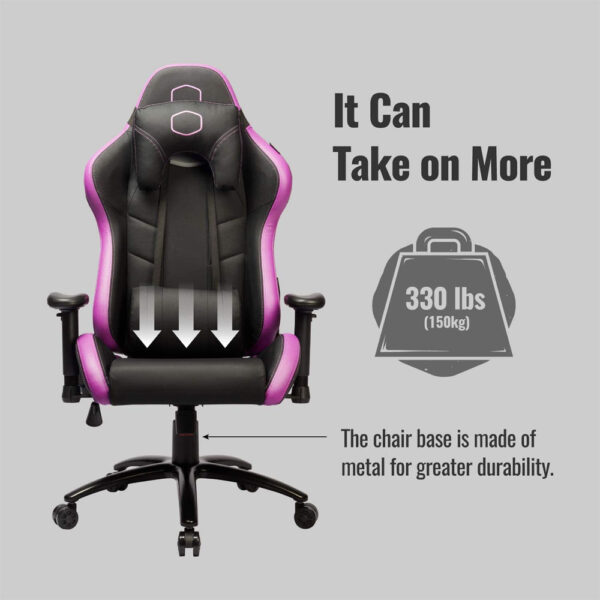 Cooler Master Caliber R2 Gaming Chair - Purple - Chaise Gamer - Atlas Gaming